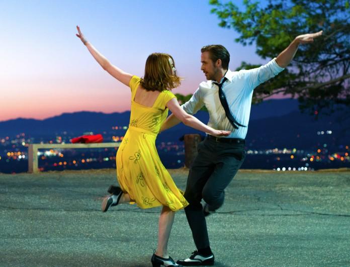 Sebastian (Ryan Gosling) and Mia (Emma Stone) in LA LA LAND