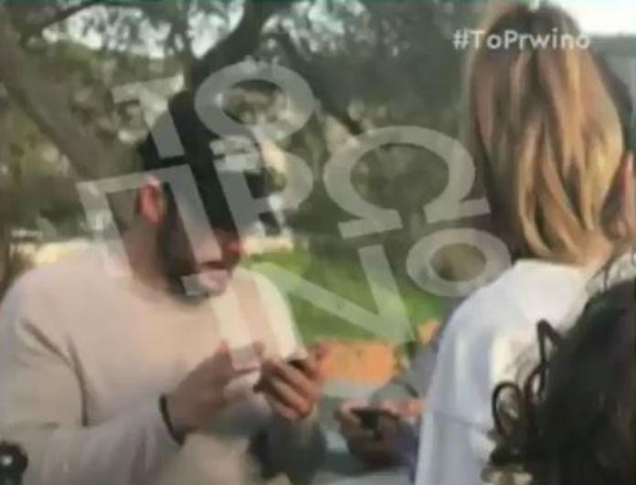 Γιώργος Αγγελόπουλος - Ντορέττα Παπαδημητρίου: Το βίντεο ντοκουμέντο με τα τετ α τετ τους! Την τάιζε στο στόμα! Πλάνα από την έξοδό τους! (Βίντεο)