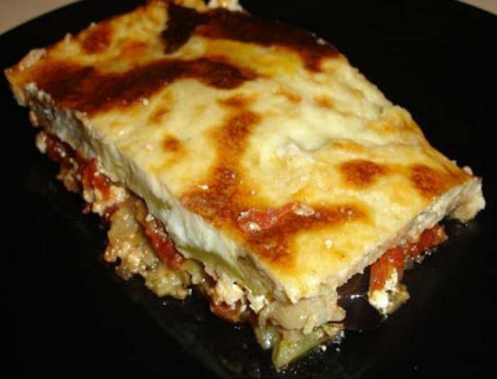 Κάτι σαν μουσακάς: Λαχανικά στο φούρνο με βελούδινη μπεσαμέλ!
