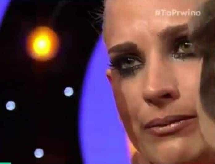 DWTS: Ξέσπασε σε δάκρυα η Άννη Πανταζή μετά την αποχώρησή της! (Βίντεο)