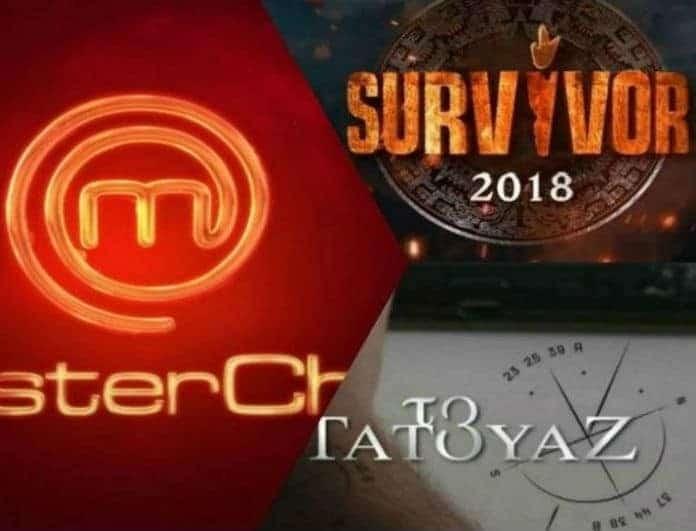 Τηλεθέαση: Κονταροχτυπήθηκαν στην Prime Time! Τι νούμερα σημείωσε Master Chef, Survivor και Τατουάζ.
