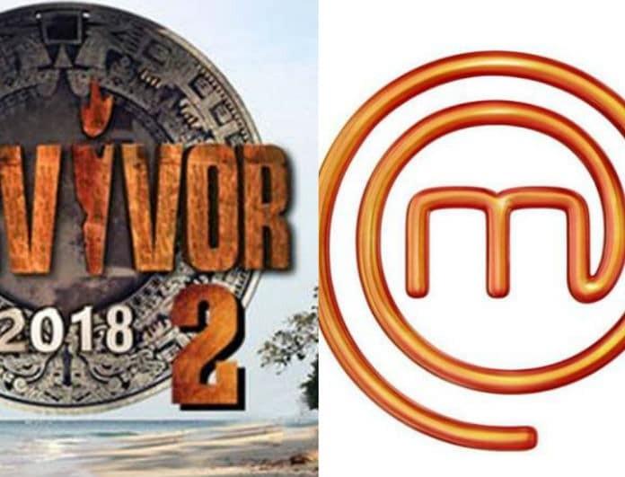 Τηλεθέαση: Μονομαχία στην prime time! Master chef vs Survivor! Ποιο τερμάτισε πρώτο;