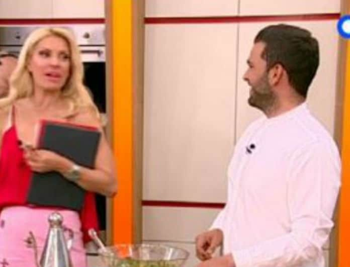 Η μπηχτή της Μενεγάκη στον μάγειρα της! «Σε ψάχνω και γυρνάς μαυρισμένος;» (Βίντεο)